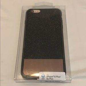Other - iPhone 6plus/6s Plus black glitter case